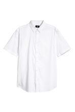 Short-sleeved shirt Slim fit - White -  | H&M 2